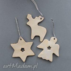 zawieszki świąteczne-ceramiczne, prezent, choinka, gwiazdka, ozdoba, dekoracja