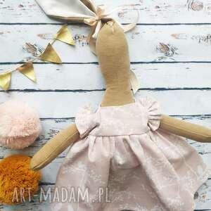 lalki pani królik z wyszytym imieniem, zabawka, przytulanka, szmacianka, prezent
