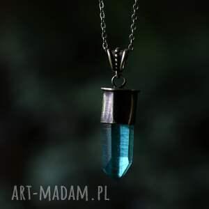 naszyjniki naszyjnik z kryształem, wisior kwarc, wahadło