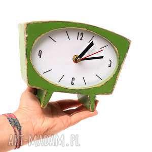 Upominek. Zegar drewniany sixty zielony zegary clockwoodstudio