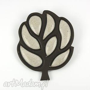 Drzewo - ,ceramika,broszki,