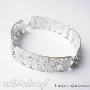 Srebrna bransoletka - Delicate satin, biżuteria, srebro, bransoletki