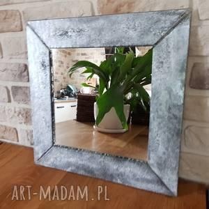 dom lustro kryształowe w szklanej ramie, lustro, kryształ, szkło, glass, decor