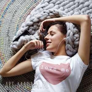 LOVE ME koszulka damska walentynki, serce, heart, red