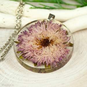 herbarium jewelry naszyjnik z suszonymi kwiatami w żywicy z295, biżuteria