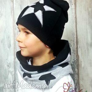 czapka kominn dla chłopca - jesień, opaska