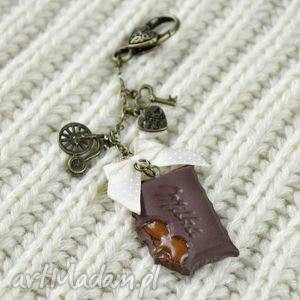 pomysł jaki prezent pod choinkę Breloczek vintage czekoladka , vintage, modelina