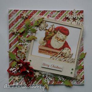 kartka świąteczna mikołaj - święta
