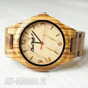 drewniany zegarek nightingale, zegarek, drewno, elegancki, bransoleta, męski