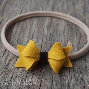butterfly bow opaska do włosów, opaska, niemowlęca, kokardka, elastyczna, filc
