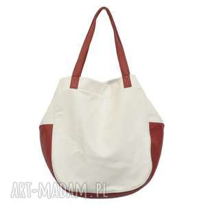ręcznie zrobione na ramię 24 -0006 biała torebka damska worek / torba studia