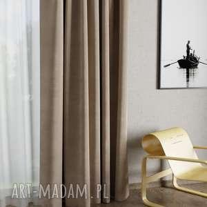 dekoracje zasłona velvet cappuccino, zasłona, zasłonka, aksamit, welwet