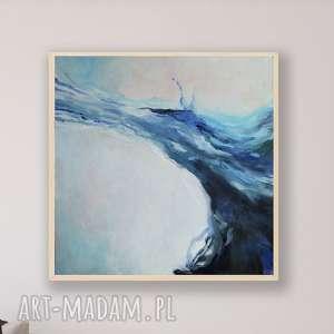 ABSTRAKCJA-obraz akrylowy formatu 40/40 cm, obraz, kwadrat, abstrakcja, akryl