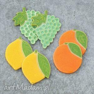 unikalny, owocowe magnesy, owoce, winogrono, pomarańcze, cytryny