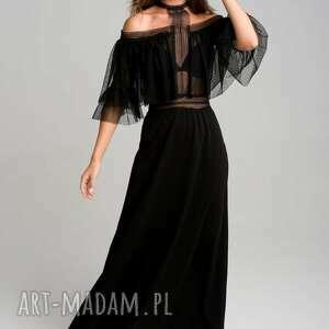 moonlight długa sukienka z tiulem i koronką, koronkowa sukienka, sylwestrowa