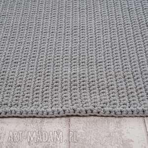 unikalne, dywany dywan ze sznurka hand made, szary, dywan, sznurek, szydełko, chodnik