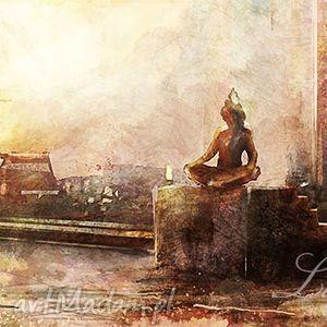 obraz - indie płótno malowany, orientalny, obraz, orient, indyjski
