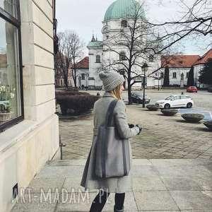 piankowa torba shades of grey, miejska, streetwear, a4, techniczna, prosta, zakupowa