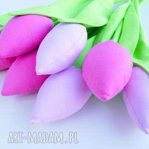 tulipany bawełniane dekoracja 8 szt - zielone dekoracje święta