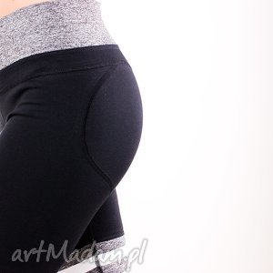 niepowtarzalne wyszczuplające legginsy push up z paskami podkreślające pośladki xs/s