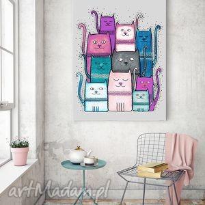 Koty 50x70cm, kot, koty, kotek, grafika, plakat