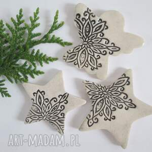 zestaw 3 magnesów świątecznych, upominki świąteczne, ozdoby, bożonarodzeniowe