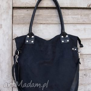 worek all black, handmade na ramię torebki