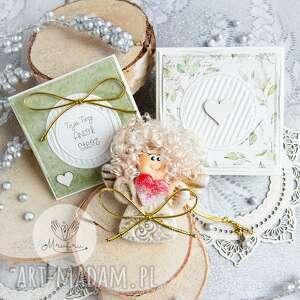 kartki anioł z intencją kartka oraz pudełeczko personalizowana treść