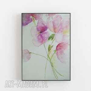 magnolie-abstrakcja-akwarela formatu a4, magnolie, akwarela, abstrakcja