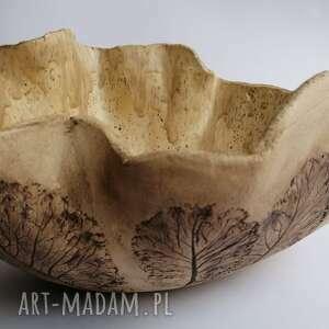 duża misa spacer po lesie, ceramika rękodzieło, wykonana ręcznie