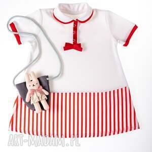 sukienka marynarskie pasy, letnia, dziewczynka, sukienka, rękodzieło