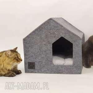 nowoczesny domek budka legowisko dla pupila z filcu, domek, legowisko, designe