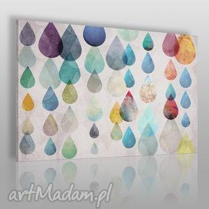obraz na płótnie - kolorowe krople 120x80 cm 27101, krople, łzy, kolorowy, deszcz