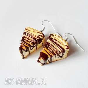 Prezent Serniczki w czekoladzie, fimo, modelina, sernik, ciastko, słodycze, prezent