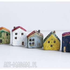 mix domków ceramicznych - 7 szt, ceramika, domek