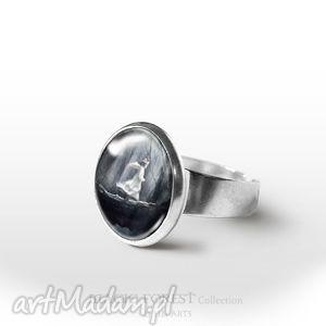 Prezent Pierścionek - Magiczny Las, pierścionek, pierścień, retro, aniołek, aniołkiem