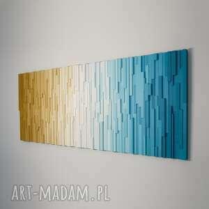 mozaika drewniana, obraz drewniany 3d plaża, modern, loft, rękodzieło