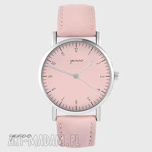 ręcznie wykonane zegarki zegarek - simple elegance pudrowy róż