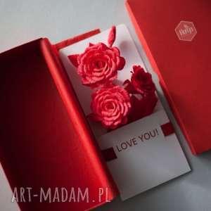 oryginalne prezenty, kartki karteczki 3d love you, love, karteczki