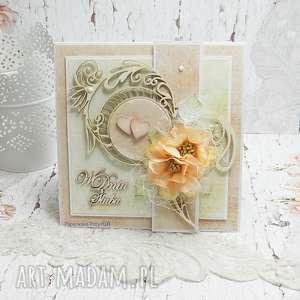 ślub w dniu ślubu - kartka z pudełkiem kŚ1, ślub, pudełko na młodej parze