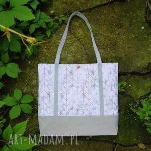 shopperka marmurkowa wegańska - ,shopperka,wegańska,torba,torebka,marmur,geometryczna,
