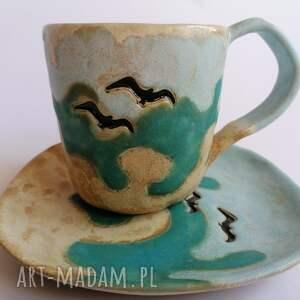 hand-made ceramika komplet a może nad morze