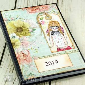 scrapbooking notesy kalendarz książkowy 2019r - make me photo