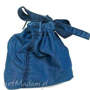 Jeansowa sakiewka mini gabiell sakiewka, woreczek, jeans