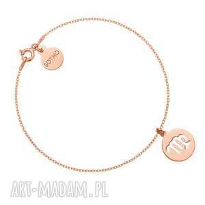 bransoletka z zodiakiem panny z różowego złota - różowe złoto