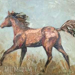 dorota struzik gniadosz - obraz olejny, konie, galop