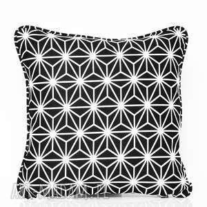 ręczne wykonanie poduszki poduszka diamond - black 50x50cm