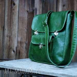 prl teczka ahoj zielona skóra pull up, zieleń, piękna, trawiasta