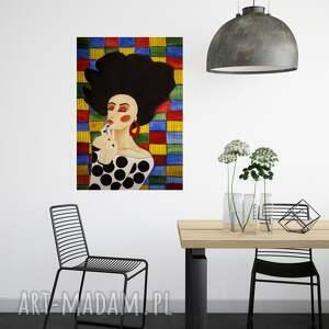 plakaty plakat 100x70 cm kolorowa kobieta