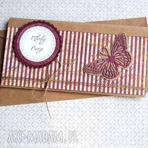 kartki kartka - kopertówka ślubna vinage butterfly, ślub